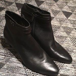 Cole Haan Black Kitten Heel Booties 👢